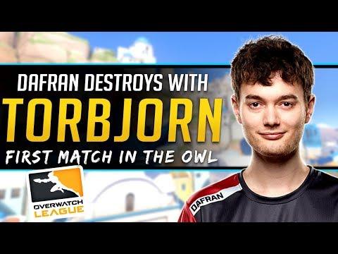Overwatch League Dafran Destroys on Torbjorn OWL Debut - Pro Analysis