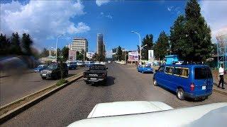 Ethiopia Highway View;  Damee Alamganna to Addis Ababa streetview