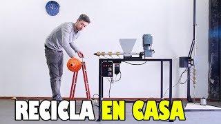 La máquina que te permite RECICLAR PLÁSTICO en CASA