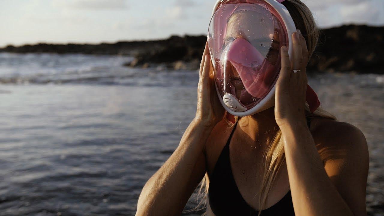 49159c86fa32 Full Face Snorkel Mask + GoPro Snorkel Mask + Easy Breath Snorkel Mask