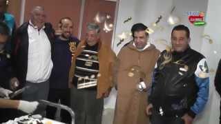 USMBA STUDIOA ALAA EDDINEHD حفل عيد ميلاد مساعد المدرب معز بوعكاز في جو أخوي