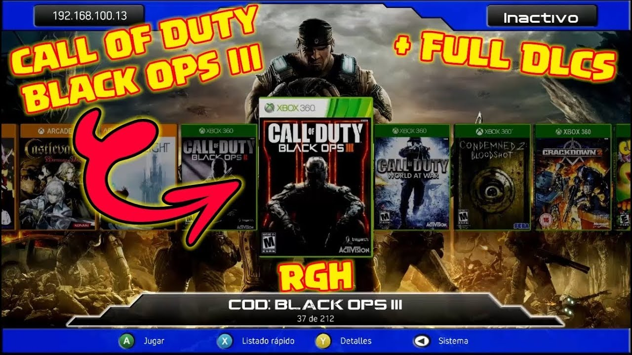 Call Of Duty Black Ops 3 Rgh Full Dlcs 2018 Youtube