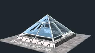 Зенитный фонарь 3200x3200мм. Пирамида. 3D визуализация.(Выполним 3D визуализацию сложных пространственных конструкций (зимние сады, зенитные фонари, пирамиды,..., 2012-10-02T18:37:24.000Z)