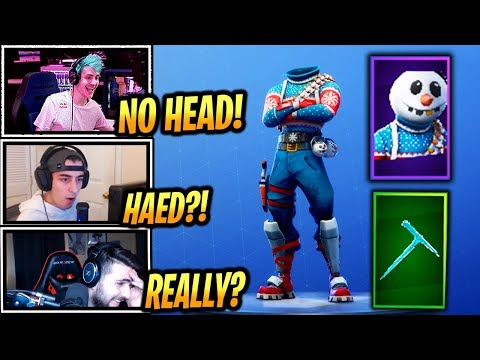 STREAMERS REACT *NEW* SNOWMAN SKIN (SLUSHY SOLDIER) + ICICLE PICKAXE! - Fortnite Epic & Funny Moment