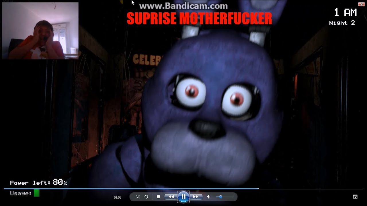 Gameplay five nights at freddy 39 s fr le jeu qui fait le for Miroir qui fait peur