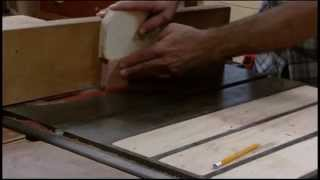 Homemade Tenon Jig(for Table Saw) Used In Cedar Chest Build