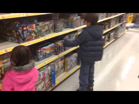 Jason at the Lego Section Of Walmart Feb 27 2014