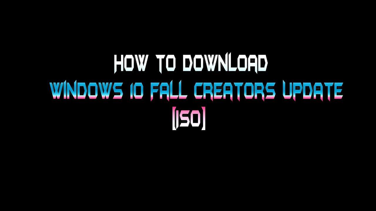 descargar windows 10 pro fall creators update iso