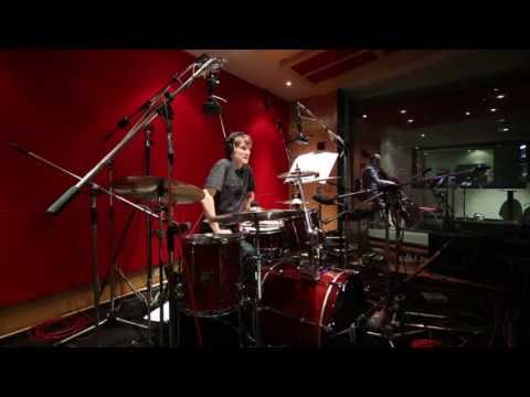 Lonely Drummer in the Abbey Road Studio 1 Booth