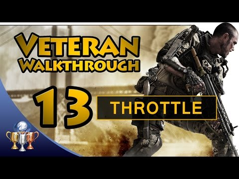 Call of Duty Advanced Warfare - Part 13 Throttle - Veteran Walkthrough [60fps]