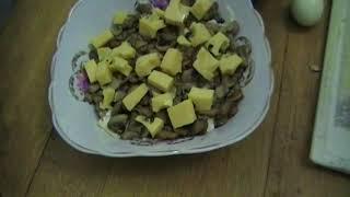 Салат из грудинки куриной | Salad with chicken breast