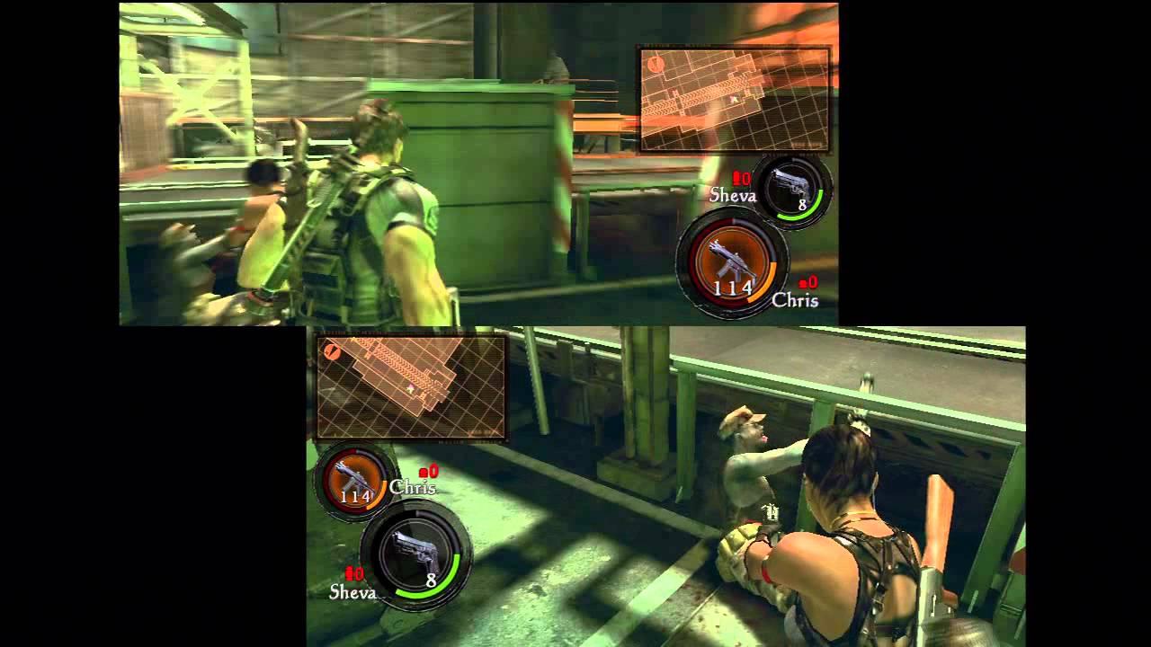 Resident Evil 5 Gold Edition Ps3 Chapter 5 2 Splitscreen