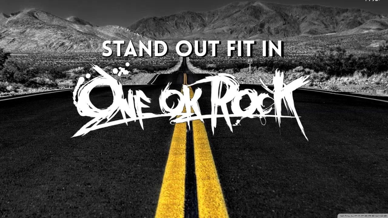 lyrics stand out fit in one ok rock eng ver chords chordify. Black Bedroom Furniture Sets. Home Design Ideas