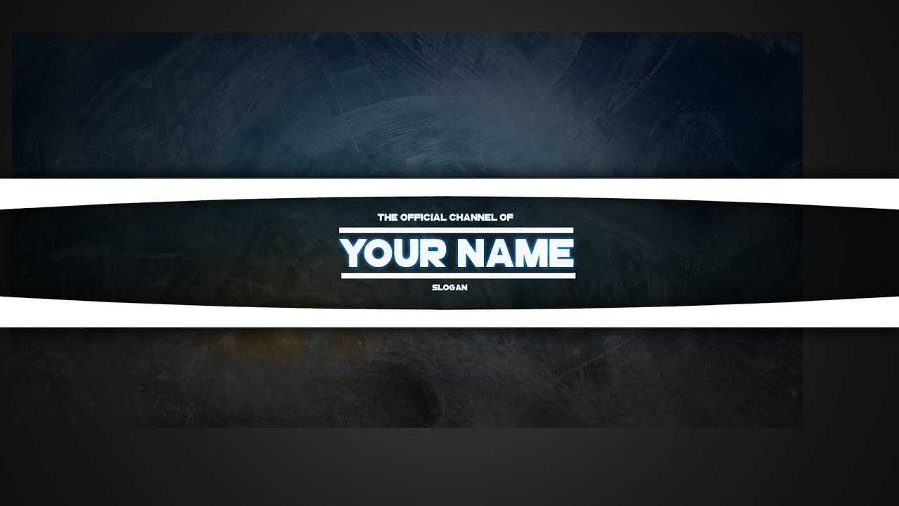 free youtube banner template for photoshop youtube. Black Bedroom Furniture Sets. Home Design Ideas