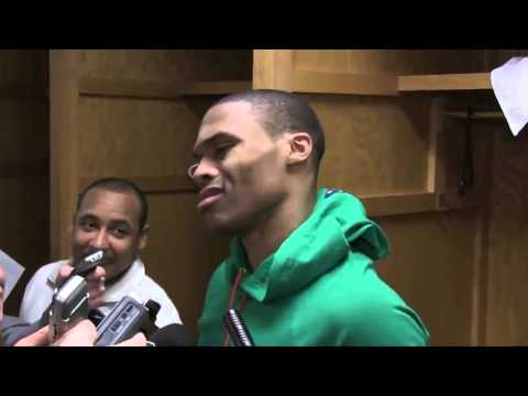 Westbrook fed up with Wizards reporter question after the game last night.