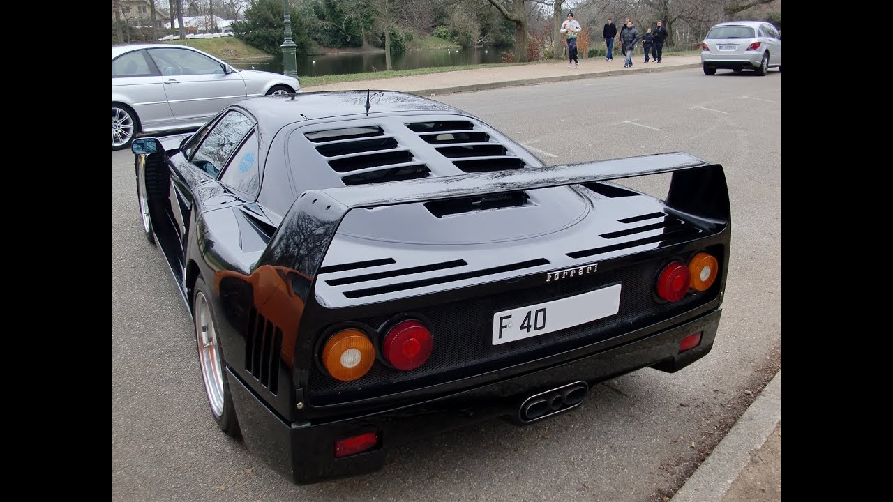 Ferrari F40 in black ! - YouTube