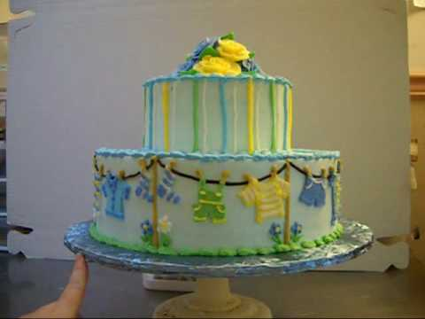 Clothesline Baby Shower Cakewmv Youtube