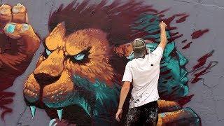Graffiti Mural Jam in Berlin! ft RAWS, STAN, KIPTOE | #KiptoePaintsTheWorld