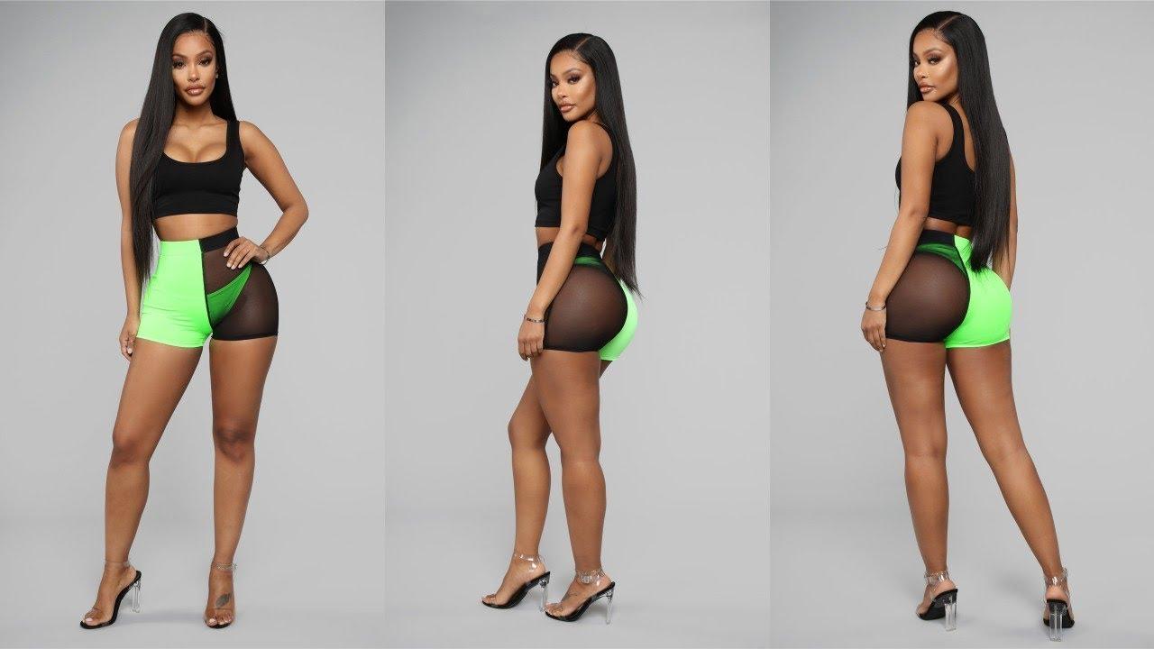 [VIDEO] - Women Sport Shorts Mesh Patchwork Design See Through Shorts Fashion Elastic Shorts From Aliexpress 1
