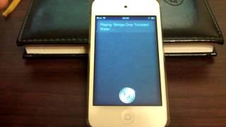 Играемся с Siri на iPod Touch 4G (iOS 5.1.1)
