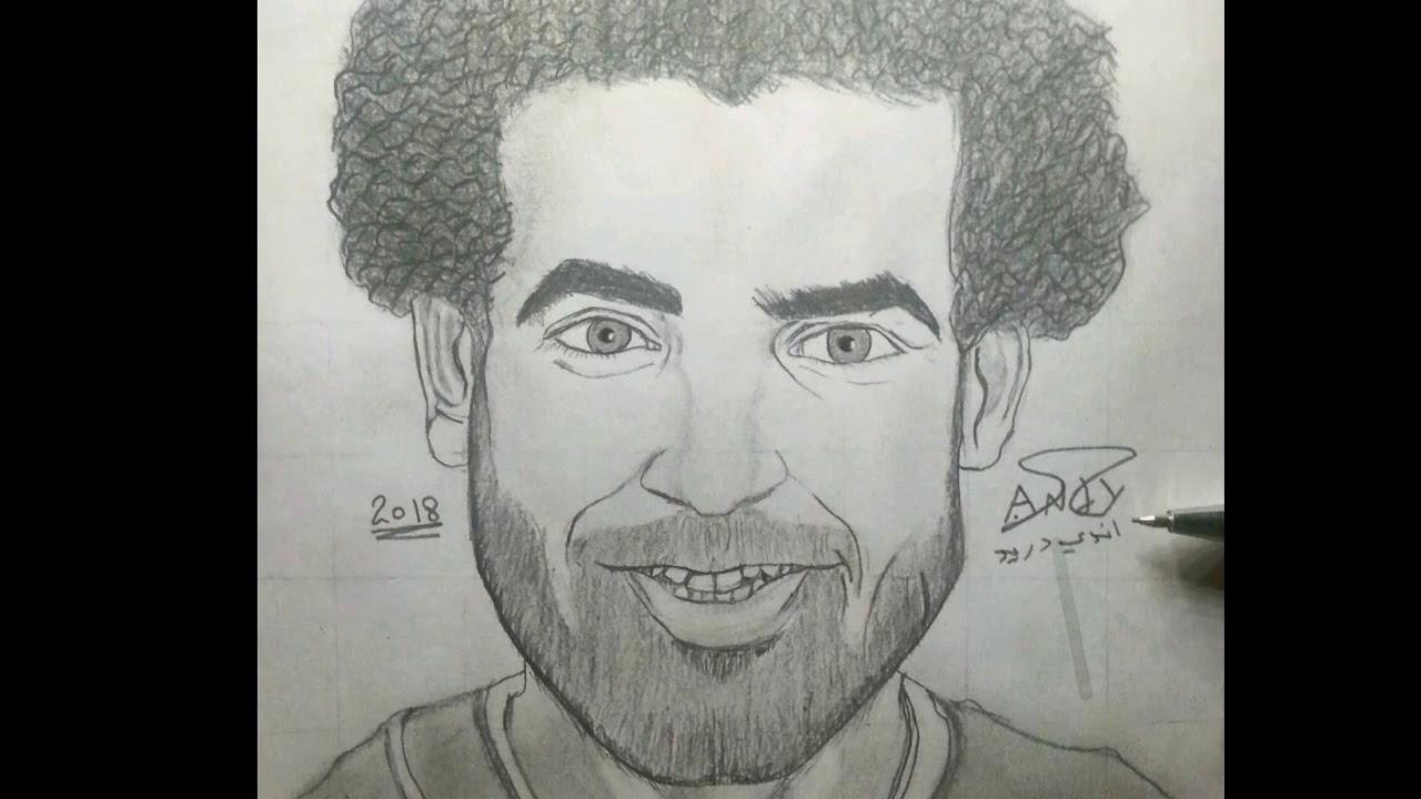 طريقه رسم محمد صلاح سهله جدن لايفوتكم Youtube