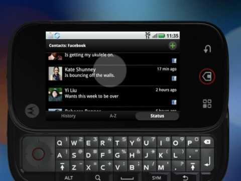 Motorola CLIQ/DEXT: Contacts And Sharing