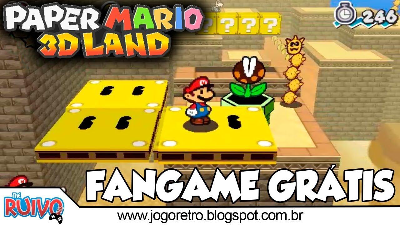 Paper Mario 3d Land O Melhor Fangame Do Super Mario Youtube