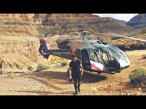 CRAZY HELICOPTER FLIGHT OVER THE GRAND CANYON