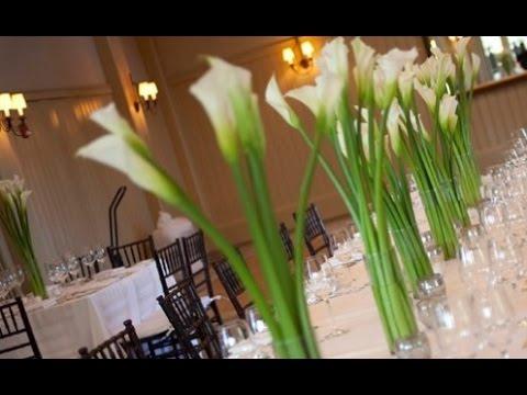 Calla Lily Wedding Centerpieces - YouTube