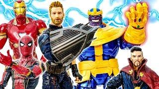 Танос ! Месники Йти~! Людина-Павук, Залізна Людина, Капітан Америка, Доктор Стрендж Бій ! - Іграшки Марвел