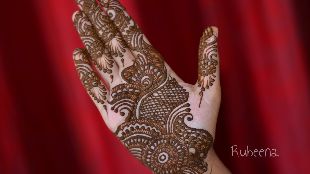Mehndi Designs Learning Hands : Full hand arab fusion mehndi designs tutorial diy youtube
