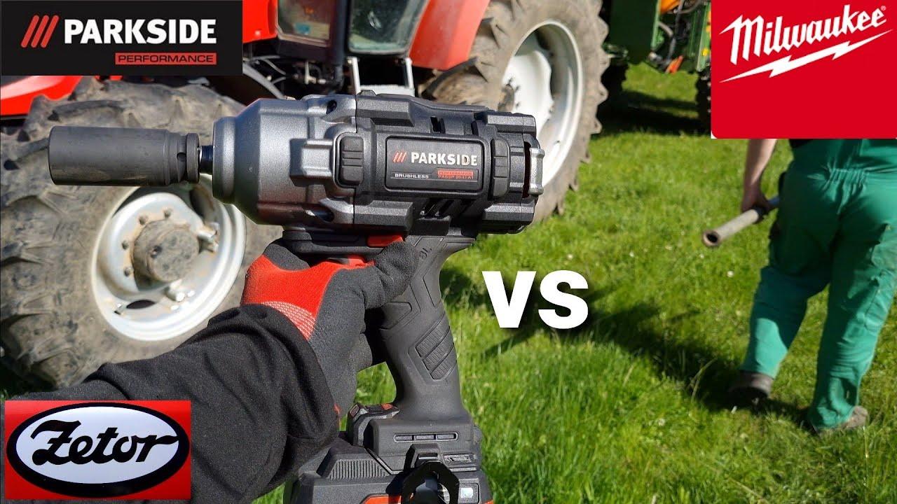 Súboj rázového utahovaku Parkside PERFORMANCE  vs traktor ZETOR + Porovnanie z Milwaukee