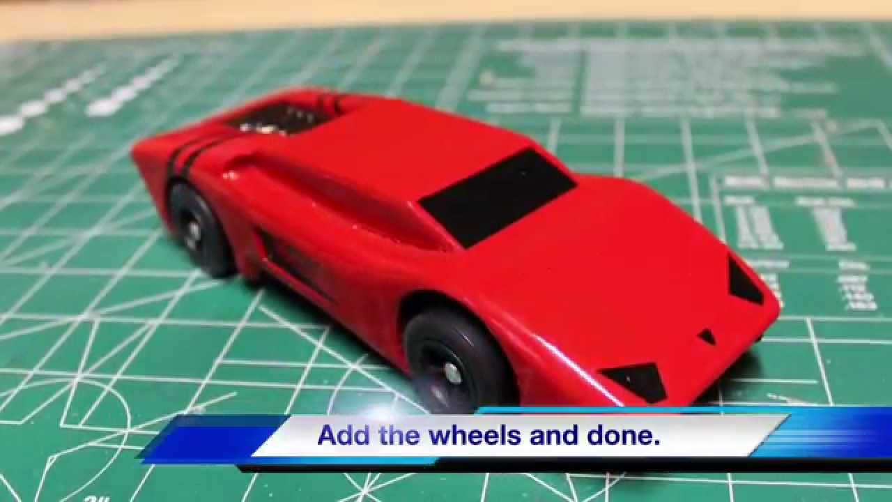 Diy lamborghini or ferrari pinewood derby car youtube for Kub car templates