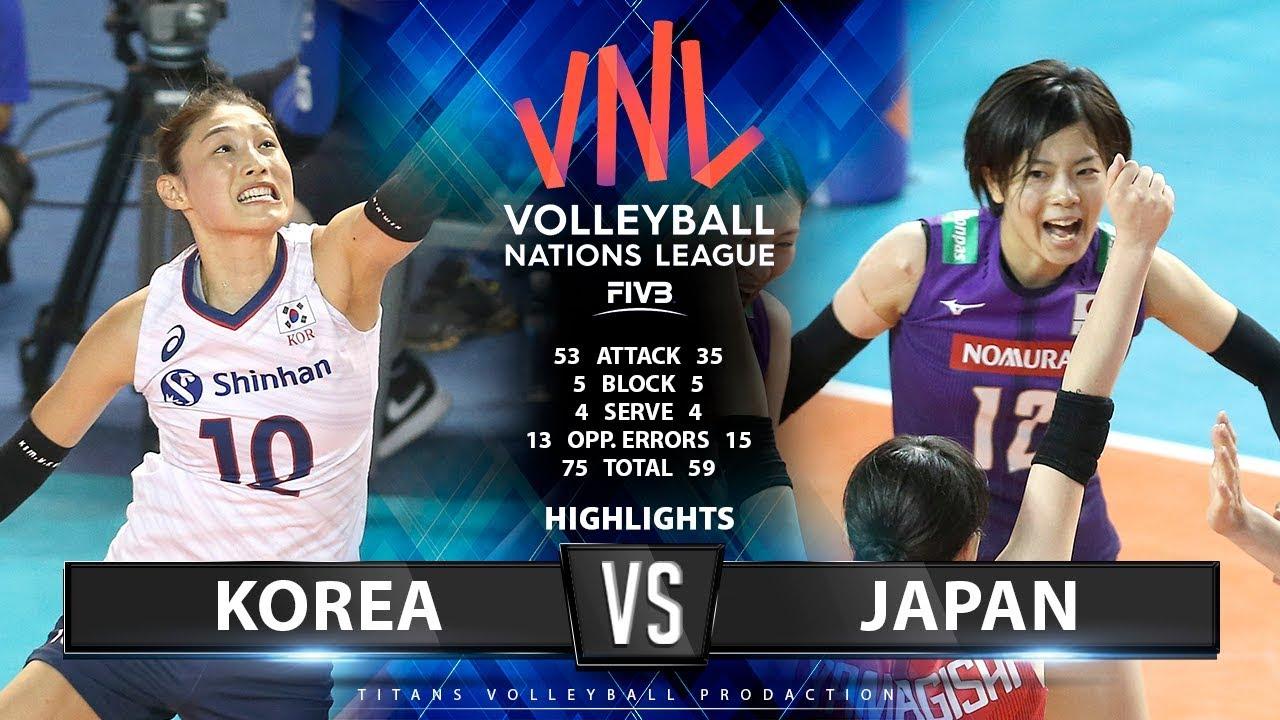 KOREA vs JAPAN - HIGHLIGHTS | Women's VNL 2019