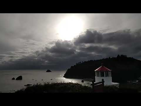 Trinidad lighthouse and sun dawg 2016