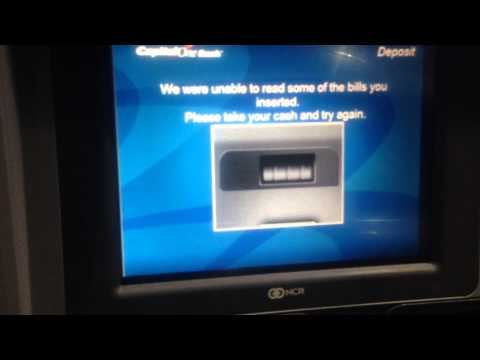 Capital One bank ATM bill reader stole my deposit and bank card and rebooted on me, fuck technology