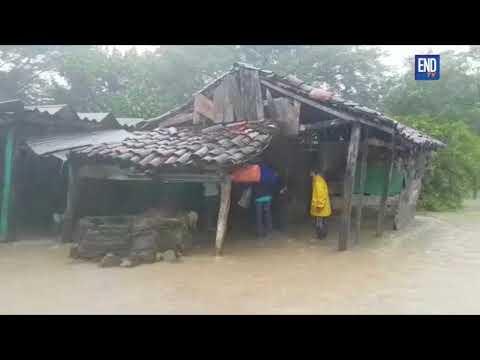 Así luce el departamento de Rivas, tras varias horas de lluvias