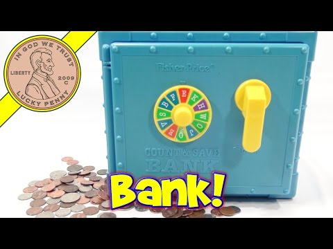 Fisher-Price Count & Save Bank, 1988 - Save For Your Future!