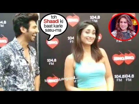 Kartik Aryan BEST Fμηηy-N-Hilarious Moment Ask'g Kareena Kapoor 4 Sara Ali Khan MARR!AG€ On Her Show Mp3