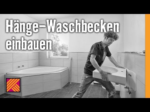 version 2013 waschbecken montieren h nge waschbecken einbauen hornbach meisterschmiede youtube. Black Bedroom Furniture Sets. Home Design Ideas