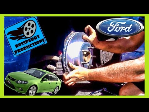Ford Flacon XR6 Front Brakes Brake Pad & Disc Rotors Replacement How To Tutorial DIY, FG BF