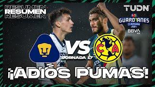 Resumen   Pumas vs América   Torneo Guard1anes 2021 BBVA MX J17   TUDN