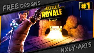 FREE - Fortnite Thumbnail Template + Speedart (2. Upload) |nxly•Arts
