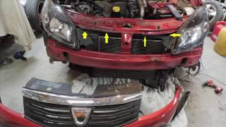 Comment changer le radiateur d'une  SANDERO STEPWAY How to change the radiator of a  DACIA SANDERO