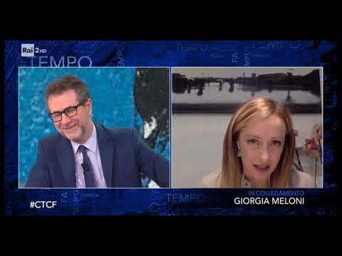 Giorgia Meloni ospite da Fabio Fazio a Che Tempo che Fa su Rai 2. Assolutamente da non perdere!