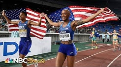 IAAF World Relays: USA's Donavan Brazier, Ce'Aira Brown win 2x2x400m   NBC Sports