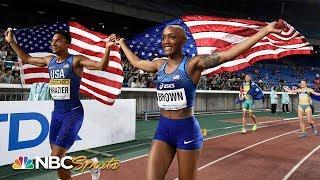 IAAF World Relays: USA's Donavan Brazier, Ce'Aira Brown win 2x2x400m | NBC Sports