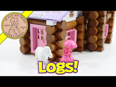 Lincoln Logs Country Meadow Cottage Kids Building Set By K'Nex - Bonus Stop Motion