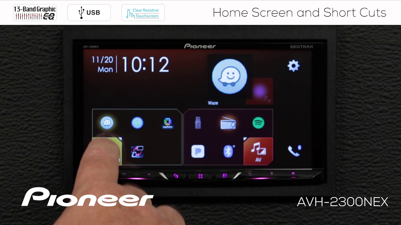 best budget carplay radio pioneer avh 1300nex 1400nex unboxing and demo by provo beast audio installation [ 1280 x 720 Pixel ]