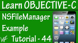 Free Objective C Programming Tutorial for Beginners 44 - Check File Exist or Not in Objective C